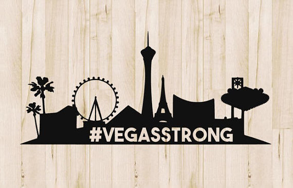 Vegas Strong Silhouette Decal