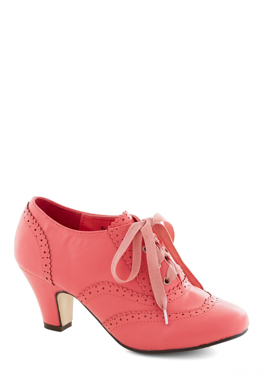 Dance Instead of Walking Heel in Pink | Mod Retro Vintage Heels | ModCloth.com I WANT THESE SHOES….