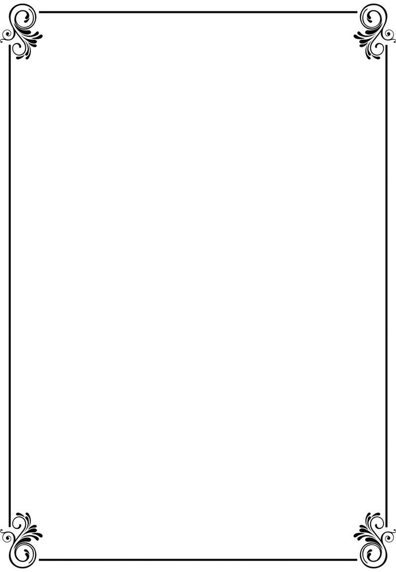 Simple Border Designs For A4 Paper Clipart Best Free Certificate
