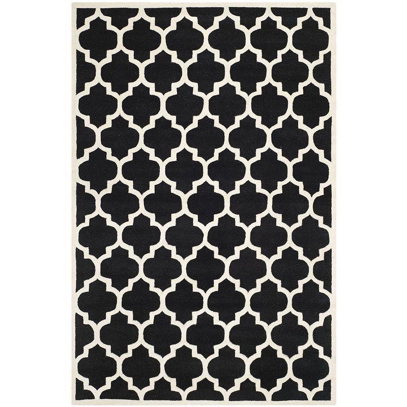Safavieh Devereux Geometric Hand Tufted Wool Rug Area Rugs Rugs Black Area Rugs