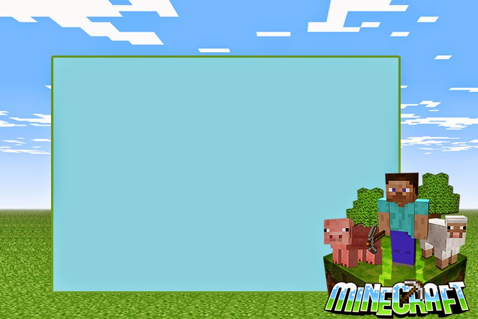 Minecraft: Free Printable Invitations. | mind craft invits ...