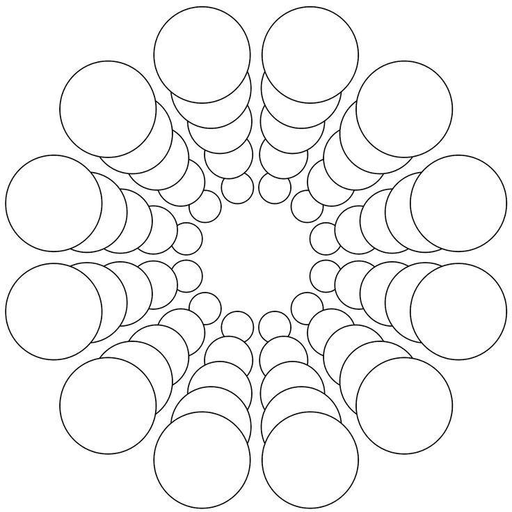 73 Zentangle Mandala Template
