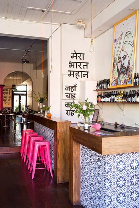 All Things Nice An Indian Decor Blog Horn Please A Funky Modern Restaurant In Melbourne