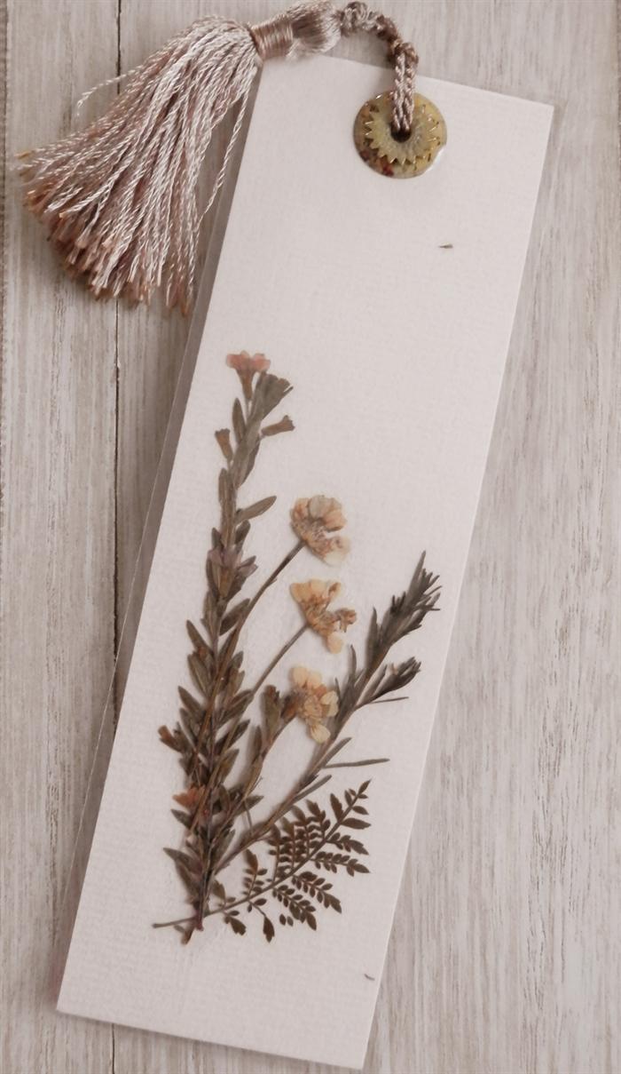 Pressed Flower Bookmark Flower Bookmark Bookmarks Handmade Pressed Flowers