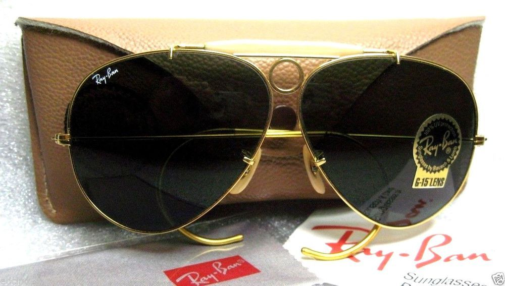 6b20758e8a NEW VINTAGE RAY-BAN B&L AVIATOR BulletHole Shooter 24kGP **NOS ...