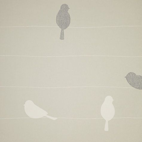 John Lewis Bird On A Wire Wallpaper Putty Wallpaper Online Wallpaper Bird