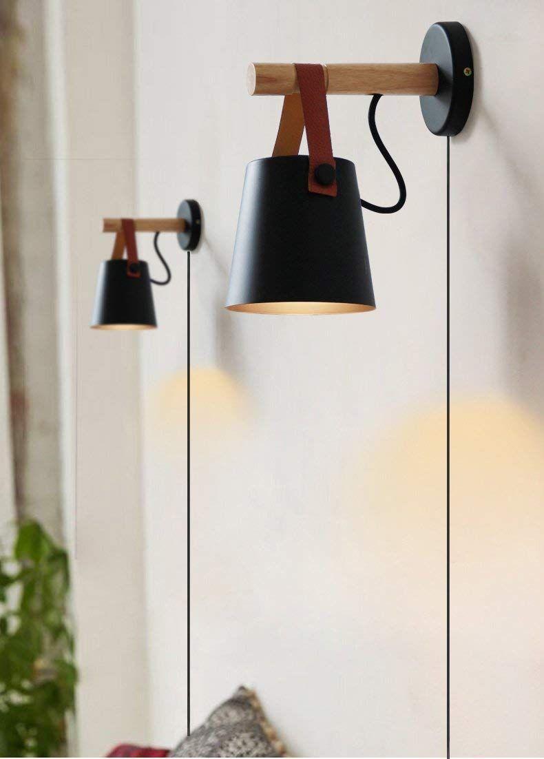 Kiven Iron Art Belt Wall Lamp Ul Certification Plug In Button Cord Lighting Round Bucket Loft Style Wall Lamp Wall Lamps With Cord Wall Lamp Wall Mounted Light