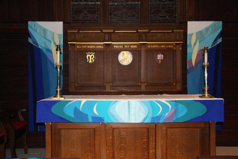 Huntley Anglican Church Carp, Ontario - Advent Altar Set - Dec. 2012