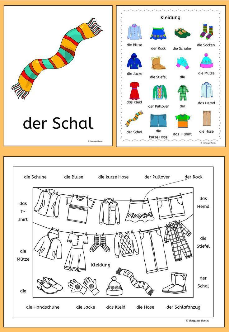 German Clothing - Kleidung - activities, games and puzzles - schüller küchen händlersuche