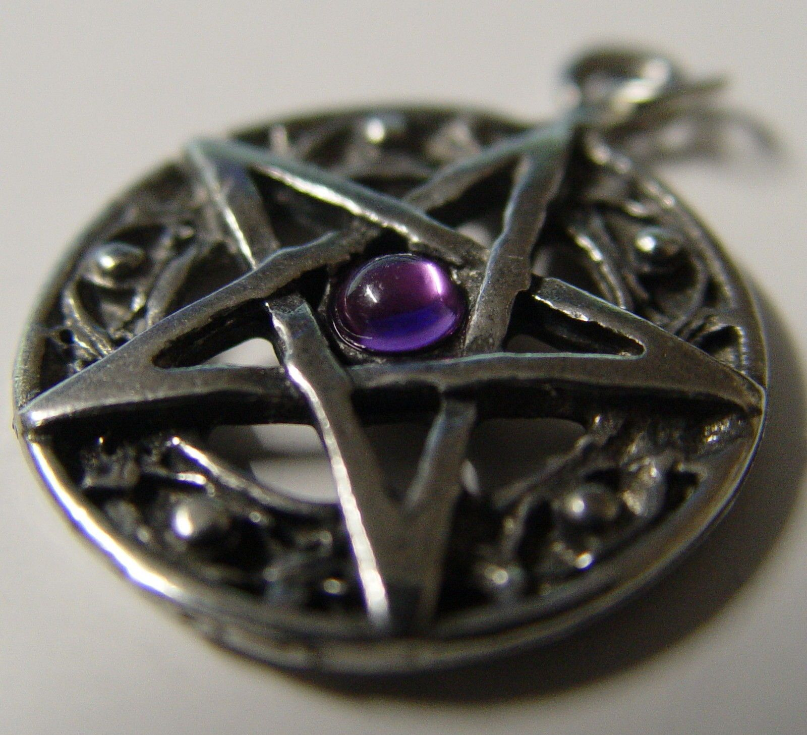Protected Life Purple Pentagram Amulet Wicca Pagan Witch Goth Protection | eBay
