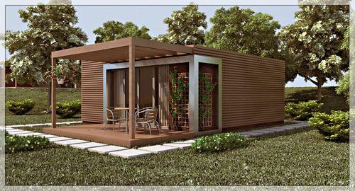 maison pr fabriqu e contemporaine cologique en bois bora 36 delux tantdem green house. Black Bedroom Furniture Sets. Home Design Ideas