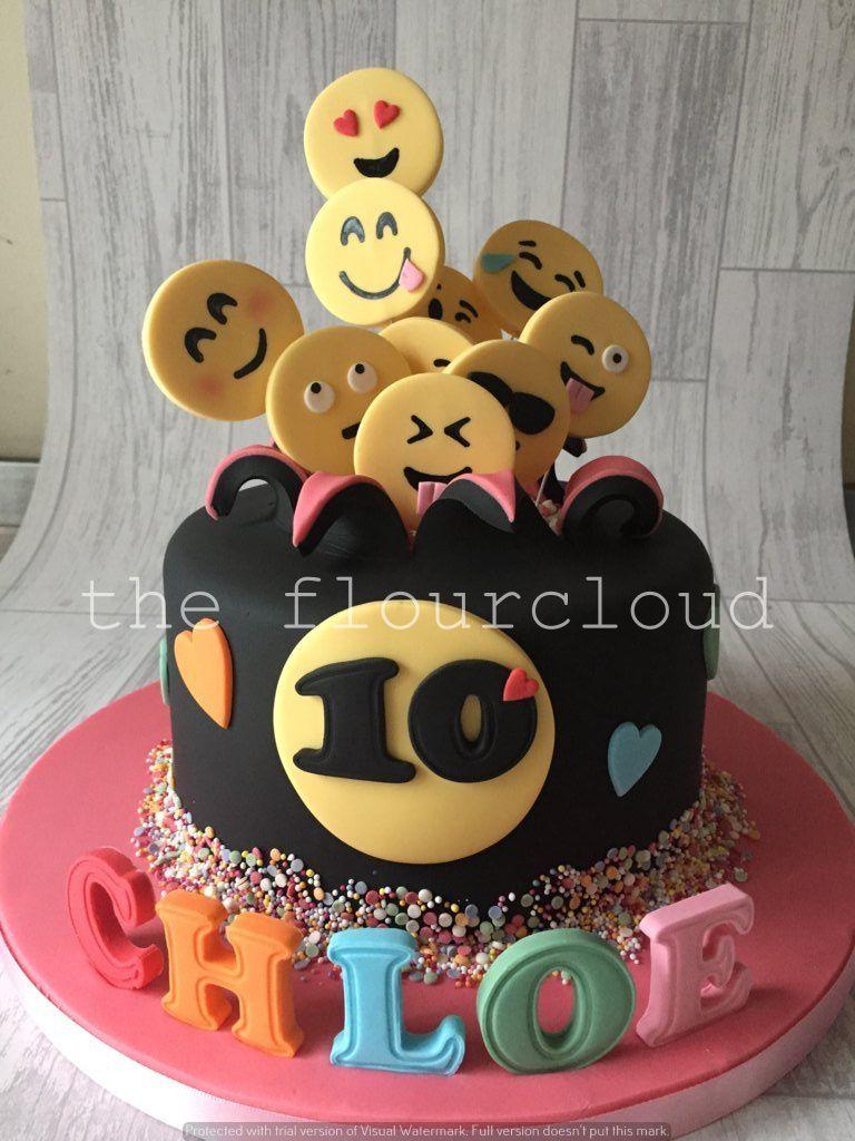 Emoji Explosion Birthday Cake Children S Cakes Birthday Cake