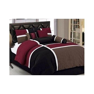 Comforter Set Queen Bedding Quilt Patchwork Quilted Bedroom