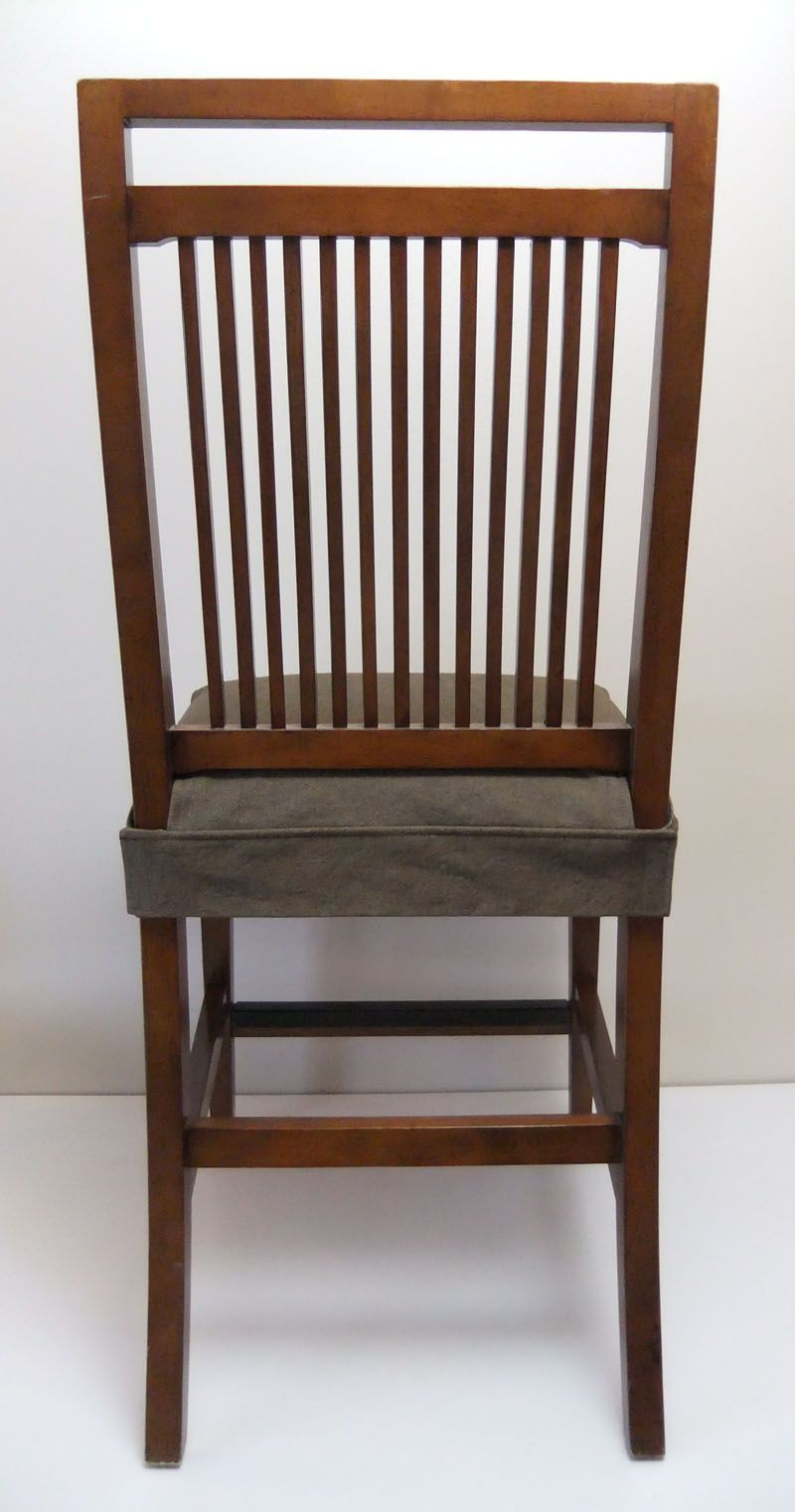 Dining Chair Seat Cover, Smooth And Flat On Back. Nicely Tailored In Brown  Denim
