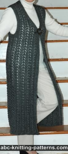 ABC Knitting Patterns - Two-Tone Seamless Vest.