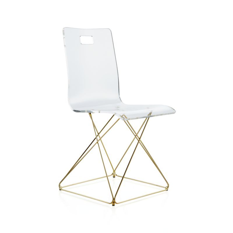 Cool Kids Now You See It Acrylic Desk Chair With Gold Base In Ibusinesslaw Wood Chair Design Ideas Ibusinesslaworg