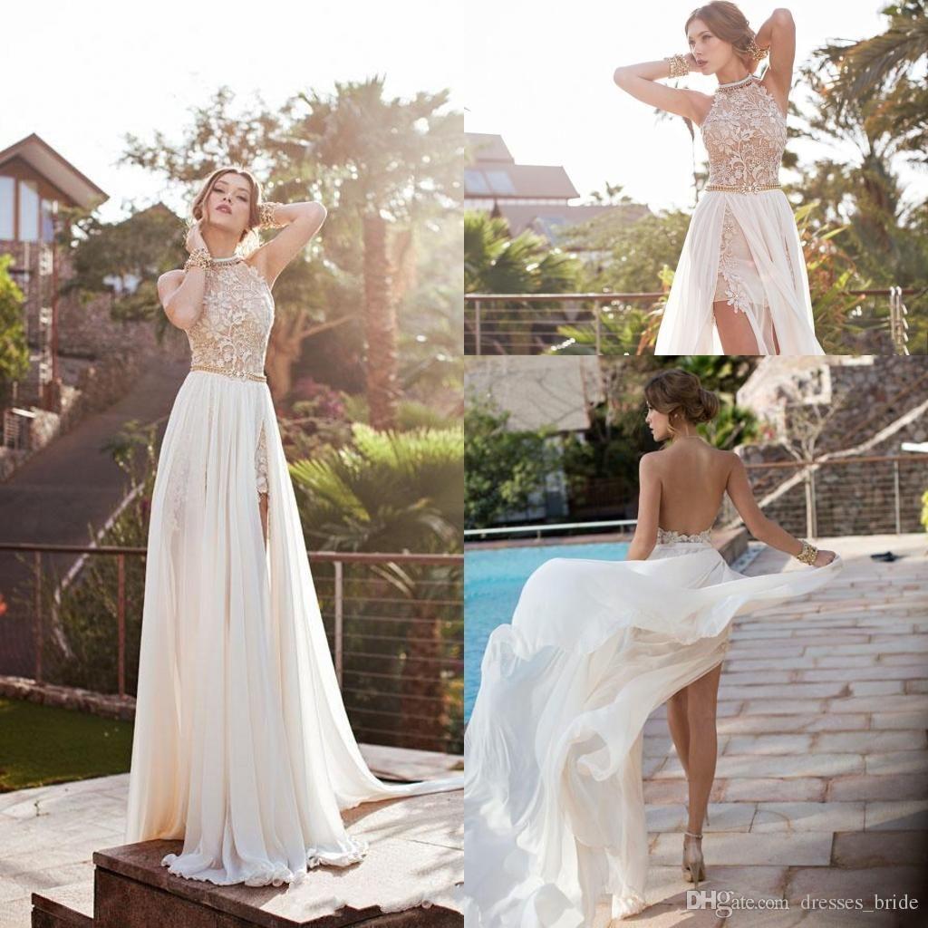 Backless Long Dress Ivory
