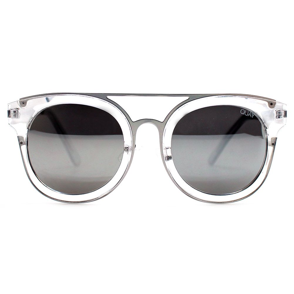 525bb385190c Quay Australia Brooklyn Sunglasses in Clear Silver