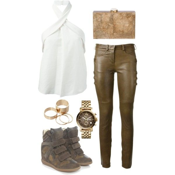 Untitled #473 by emmaomeradzic on Polyvore featuring polyvore fashion style Isabel Marant Ashlyn'd FOSSIL Call it SPRING