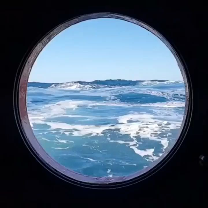 High Seas Through A Porthole