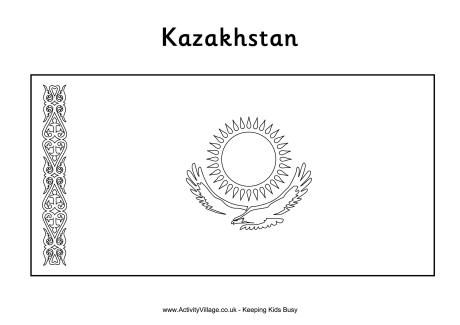 Kazakhstan Colouring Flag Flag Coloring Pages Kazakhstan Color