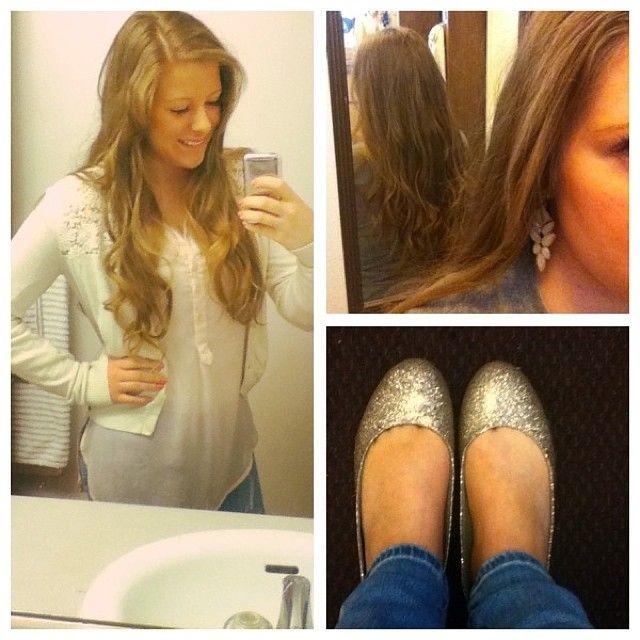 #ootd #collegelife #mormonlife #byui #kotd #glitter #flats #longhair #curls #crochet  / http://mormonfavorites.com/?p=11085