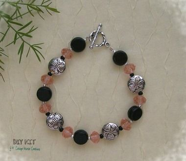 Butterfly Bracelet Pewter Coin Bead Kit Products Pinterest