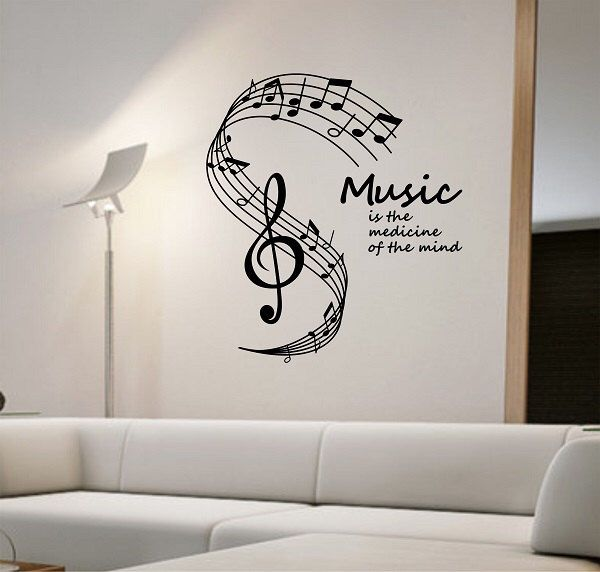 Music Notes Wall Decal Medicine Of The Mind Vinyl Sticker
