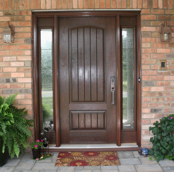 Exterior Design Classy Entry Door Design With Solid Wood Materials