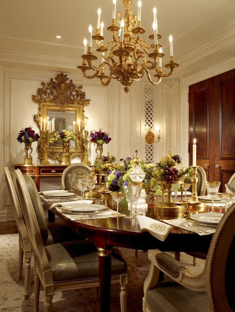 Scott Snyder Inc 5th Avenue New York Apartment Project Elegant Dining Room Luxury Dining Room Elegant Dining