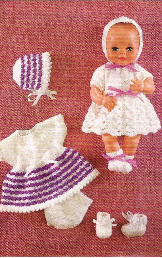 """12"""" Dolls clothes knitting pattern. PDF Instant download ..."""