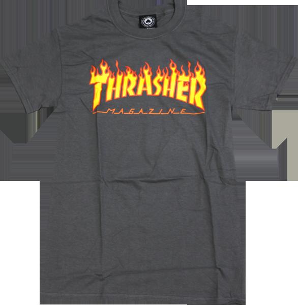 e86f9eea4b5e Thrasher Flame Ss M-Grey
