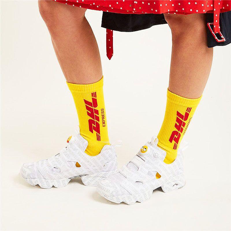NEW 2 pairs Vetements style long socks black and white 2016 FW Gosha Rubchinski