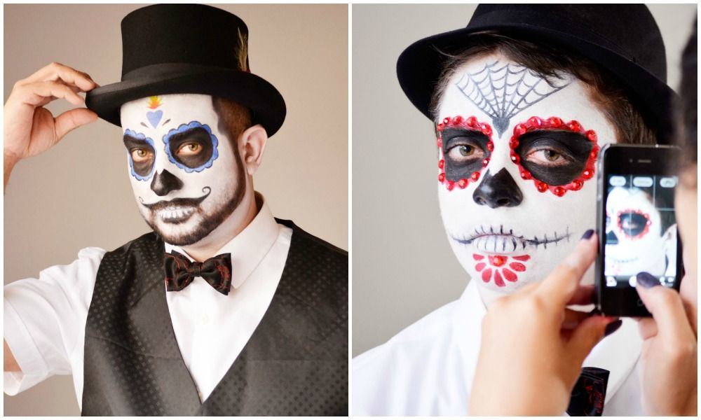 Disney Family Recipes Crafts And Activities Dead Makeup Halloween Costumes Makeup Sugar Skull Face Paint