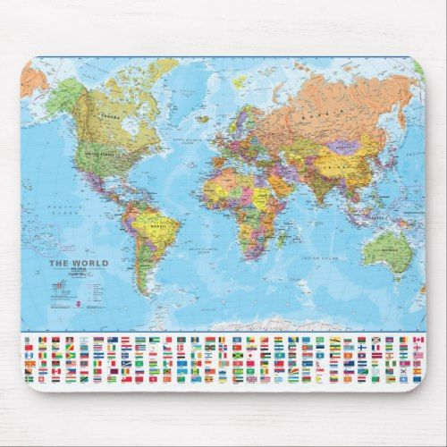 World Map Mousepad Mousemat Zazzlecom Custom Personalized - World-map-with-us-in-center