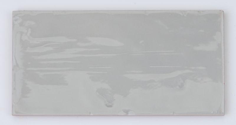 Sample Of Valencia Pale Grey Retro Wall Tiles 75x15cm Kitchen