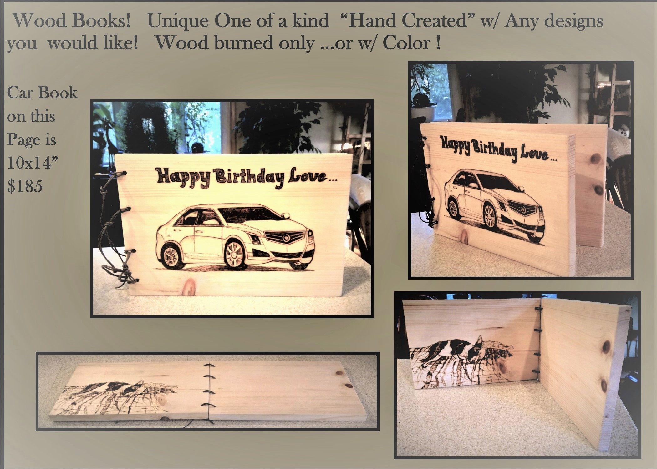 Mens Gift Ideas Boyfriend Gift Photo Album Journal Wood