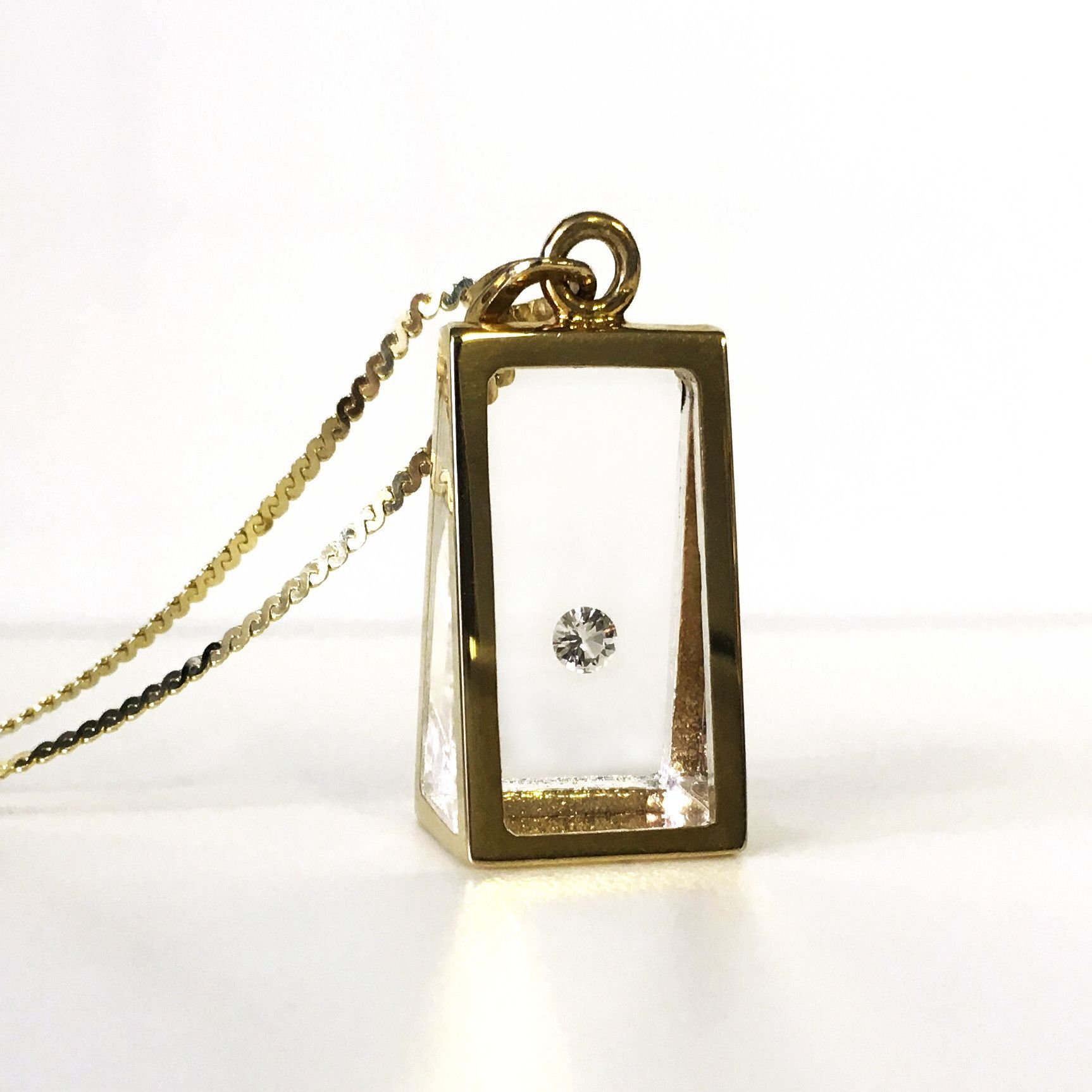 Floating diamond pyramid pendant i want pinterest clarity