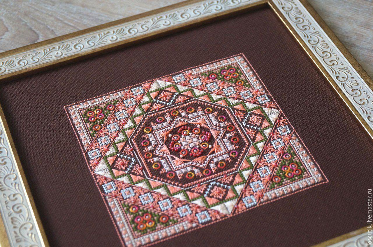 Вышивка крестиком платок