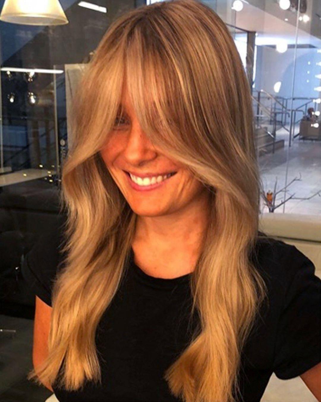 Sarahgabriellamauricemeade Sarahgabriella Lauraamy86 Instagram Realness In 2020 Fringe Haircut Long Hair Styles Thin Hair Bangs