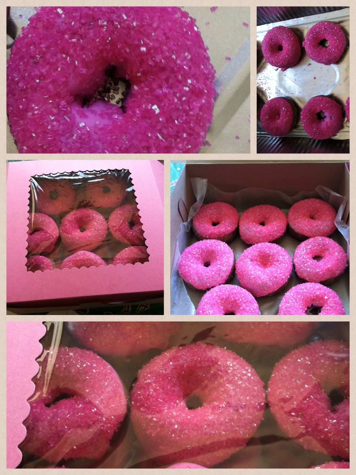My pink blinged doughnuts