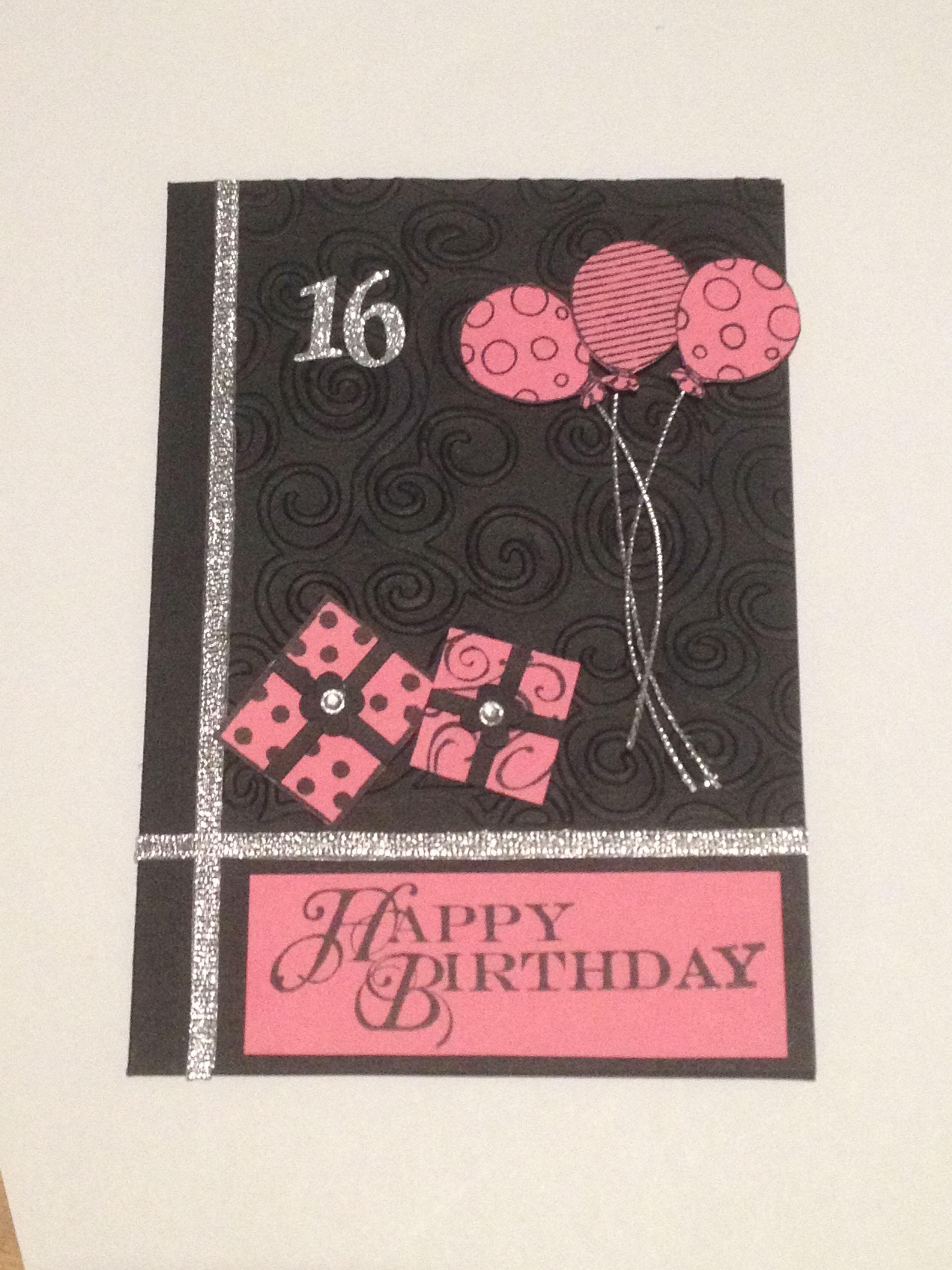 16th Birthday Card 16th Birthday Card Cards Handmade Birthday Cards