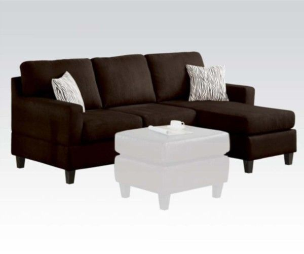 Acme Furniture Vogue Microfiber Reversible Chaise Sectional Sofa