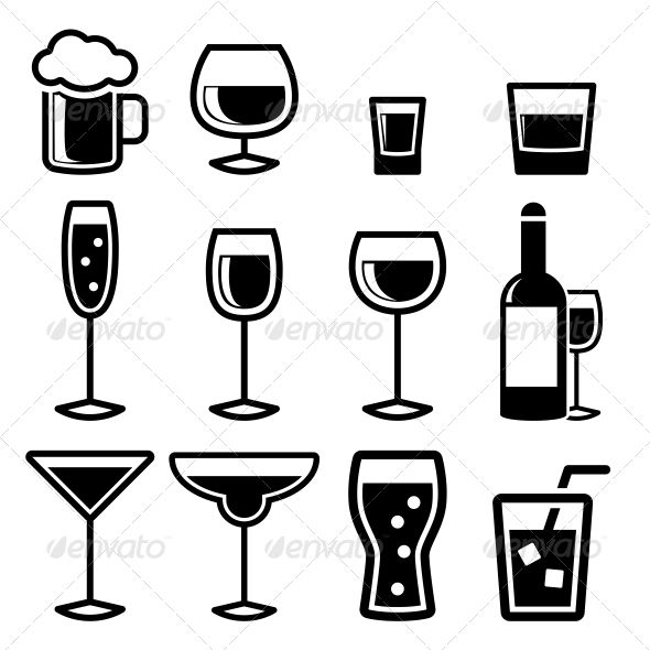 Drink Icons Drink Icon Business Icons Vector Drinks