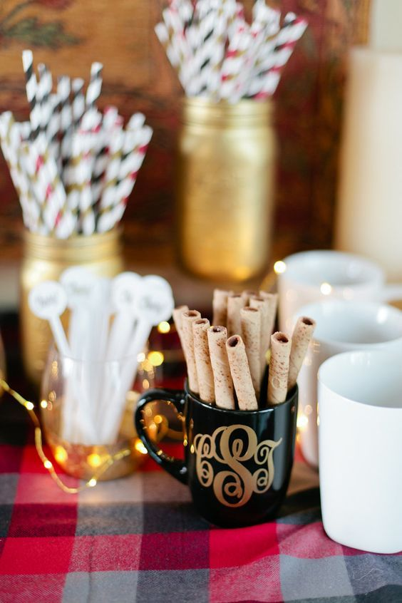 cinnamon-sticks-and-drink-straws http://itgirlweddings.com/flannel-themed-bachelorette-party-weekend/