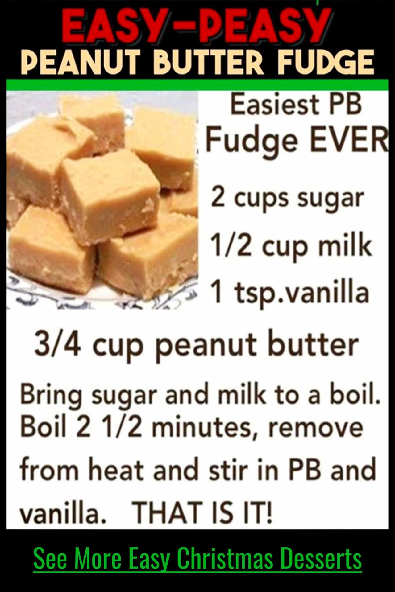 Easy 3 Ingredient Fudge Recipes - Super Simple Sweet Treats For a Crowd, For Parties or as Easy Homemade Dessert Gifts #easysimpledesserts