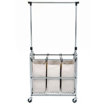 Clothes Drying Rack Costco Entrancing Costco Seville Classics® Laundry Sorter Ii With Adjustable Hanger 2018