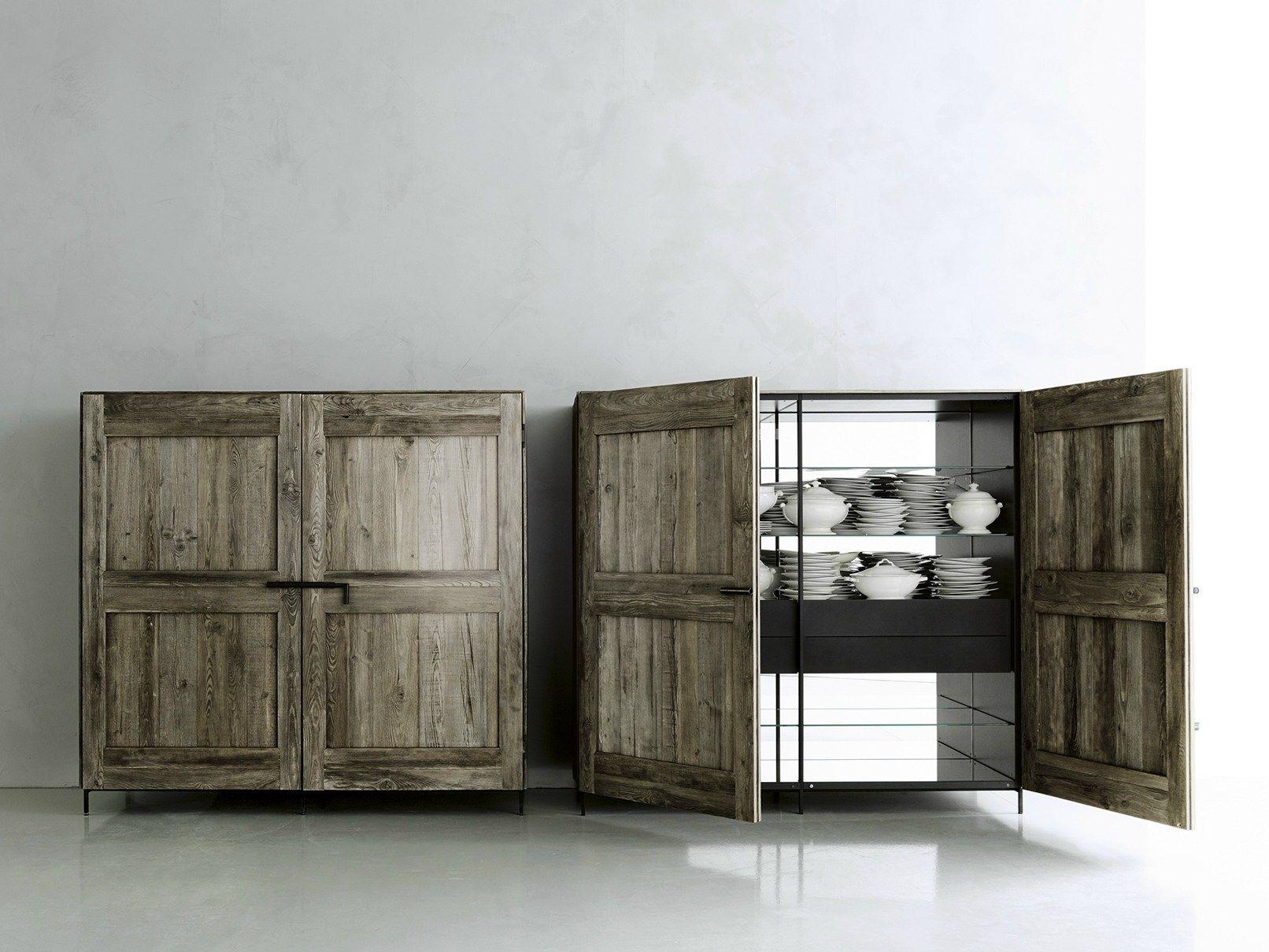 Ante In Legno Massello Per Cucina.Madia In Legno Massello Con Ante A Battente Madia By Boffi Design