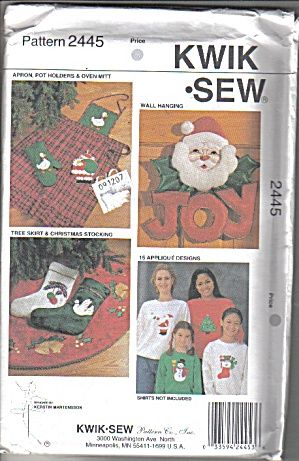 Kwik Sew Pattern for Christmas Theme Decorations (Image1)