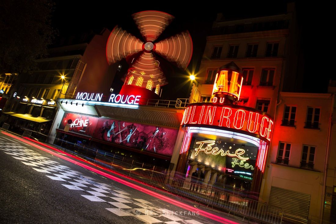 #Moulinrouge #Moulin #Rouge #Paris night